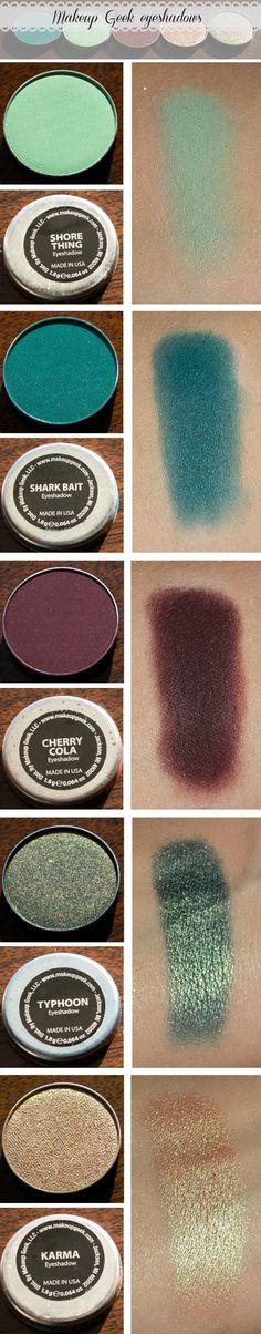 makeup geek eyeshadows swatches