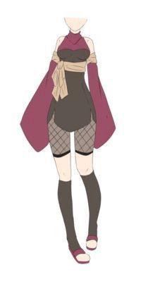 Drawing Anime Clothes, Anime Girl Drawings, Pokemon Trainer Outfits, Ninja Outfit, Naruto Girls, Naruto Oc, Sasuke, Naruto Clothing, Fashion Figure Drawing