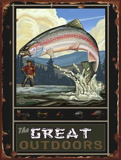 Northwest Art Mall Shaver Lake California Rainbow Trout Fisherman Hills Artwork by Paul A. Lanquist, by National Park Posters, National Parks, Gone Fishing, Fishing Trips, Fishing Signs, Fishing Stuff, Fishing Quotes, Fishing Books, Bass Fishing