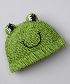 Take a look at this Green Froggie Fred Beanie by Bachik on #zulily today! $15 !!