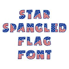 Star Spangled Flag Font embroidery font