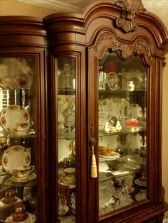 I love all the carvings in our china hutch. I'm just a traditional kinda gal.