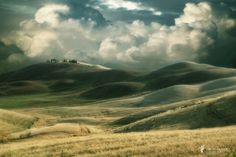 Tuscan Impressions XI - dramatic clouds over Tuscan hills. Lars van de Goor Photography Art