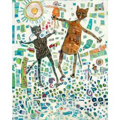 Barry and Pumpkin on the Way Up fine art print available at King and Union.