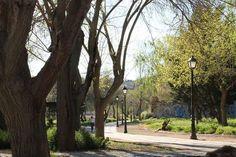 Paseo por un parque de Salamanca