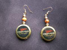beer cap earrings by dagutzyone
