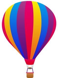 hot air balloon that I based off of the hot air balloon with these colors in Dogs in the air