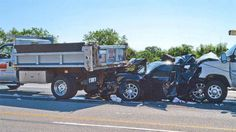 Speeding truck hit vehicle in a construction zone on Interstate 294 on May 22, 2012.