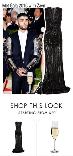 """""""Met Gala 2016 with Zayn"""" by lucybitch ❤ liked on Polyvore featuring Zuhair Murad, Dartington Crystal and Yves Saint Laurent"""