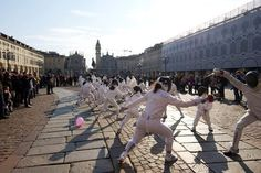 An epee flashmob in Italy!