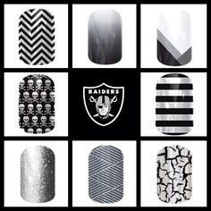 Oakland Raiders Football Nails, Nail Art Studio, Custom Wraps, Jamberry Nail Wraps, Old Maps, Home Security Systems, After Shave, Manicure And Pedicure, Fun Nails