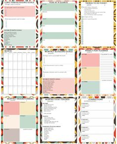 Free Printable Blog Planner – maybe later