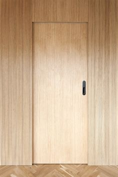 Material combinations and minimal details enrich a Prague ap.- Material combinations and minimal details enrich a Prague apartment Minimalist apartment - Dark Interiors, Wood Interiors, Office Interiors, Bedroom Door Design, Bedroom Doors, Wooden Door Design, Wooden Doors, Modern Interior Design, Interior Architecture