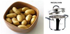 Cómo pelar patatas fácilmente  Cocinar es un arte, una maravilla para deleitar el paladar de tu familia, amigos o a ti mismo pero, a veces, puede resultar un poco tedioso. Te mostramos un truco de cómo pelar patatas fácilmente y apenas sin esfuerzo Potatoes, Vegetables, Food, Peeling Potatoes, Easy Recipes, Cook, Kitchen Gadgets, Easy Cooking, Dish Sets