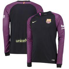Barcelona Nike 2016/17 Long Sleeve Goalkeeper Jersey - Black/Purple - $83.19