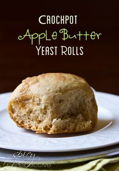 Crockpot Apple Butter Yeast Rolls | ASpicyPerspective.com #crockpot #slowcooker #thanksgiving #recipes