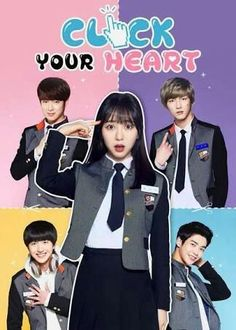 """Produced by FNC Entertainment, """"Click Your Heart"""" is a high school romance drama for the teen audience. Mina will play the female lead, a lovable. Korean Drama Romance, Korean Drama List, Korean Drama Movies, Korean Actors, Web Drama, Drama Film, Drama Series, Click Your Heart, Teen Web"""