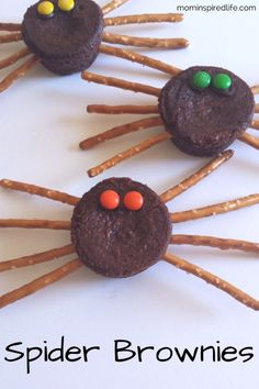 Spider brownies are a fun food treat for kids that's simple and easy to assemble! They are the perfect Halloween snack!
