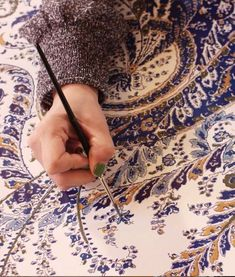 "Info about paisley - ""Each of our new paisley patterns are drawn carefully by hand, then digitally blown up and adjusted for scale, and then fine-tuned by hand once more before printing. Paisley Design, Paisley Pattern, Paisley Print, Textures Patterns, Fabric Patterns, Print Patterns, Arabesque, Textiles, Textile Prints"