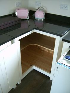 corner cabinet options | kitchen corner cabinets on All solid wood cabinets and bespoke ...