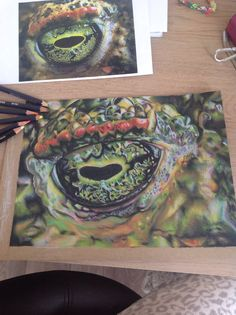 Reptile eye finished for research sheet