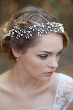 Wedding hair vine Bridal hair vine Bridal by AnnAccessoriesStudio