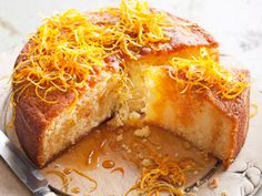 Lemon Syrup Cake, Citrus Cake, Lime Cake, Greek Sweets, Greek Desserts, Baking Recipes, Cake Recipes, Dessert Recipes, Mandarine Recipes
