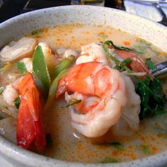 Check out this slideshow Tom Yum Goong in this list Top Ten Dishes to Try in Bangkok