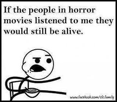 Horror movies funny