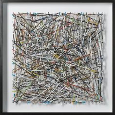"""Brantley Ellzey, """"Dwell"""" Represented at the gallery where I work, L Ross in Memphis. This is rolled up magazine pages. Awesome sauce."""
