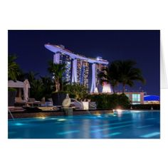 Singapore Marina Bay Sands #3 Card - diy cyo customize create your own personalize