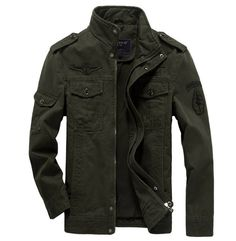 2015 Men's Military Style Slim Fit Zipper Jacket Air Force jacket Military Coat in Clothing, Shoes & Accessories, Men's Clothing, Coats & Jackets | eBay