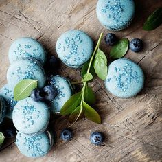 Blueberry macarons... I've never really liked to eat these, a bit too sweet to my taste... but they ...