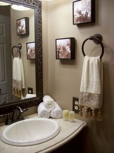 Neutral Guest Bathroom, This guest bathroom was basically rebuilt from the ground up. Before this it was filled with a Harvest Gold color tub sink and even floor tiles. Oh and there was even a ton of tiny flower country wallpaper. All comments and opinions are welcome!, Bathrooms Design