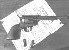 This 7 1/2 inch .44 Colt single action (Serial #55093) is the actual gun that Garrett used to kill Billy the Kid.