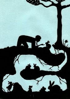Watership Down ~ Paper Cutting Art, by. Art And Illustration, Illustrations, Silhouettes, Lapin Art, Watership Down, Bunny Art, Bunny Room, Kirigami, Paper Cutting
