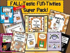 EngagingLessons from Entire Shop 50% Off-FALL-Tastic FUN-Tivities Super Pack 100 Pages! Plus a FREEBIE with Download on TeachersNotebook.com - (112 pages) - Hurray for FALL! This Fabulous Bundle is PACKED with Fun and Engaging Activities ALL with a Fall theme! Over 100 pages of Literacy, Crafts, and simple exloration Science Activities you can use throughout the fall season and then some! Activities Include