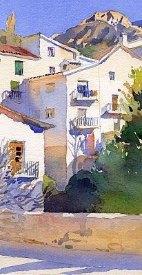 Michael Reardon: Some Oldies But Goodies Watercolor Drawing, Watercolor Artists, Watercolor Techniques, Watercolor Landscape, Landscape Art, Landscape Paintings, Michael Reardon, Watercolor Architecture, Guache