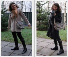 loose knitted pullover grey coat messenger bag Messenger Bag, Pullover, My Style, Grey, Coat, Jackets, Bags, Fashion, Gray