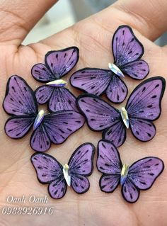 3d Nails, Acrylic Nails, 3d Nail Designs, Butterfly Nail, Painting Techniques, Beauty Nails, Needlepoint, Butterflies, Polymer Clay
