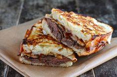 Roast Beef Grilled Cheese – (Free Recipe below) – Sandwich Grill Sandwich, Soup And Sandwich, Sandwich Recipes, Sandwich Ideas, Grilling Recipes, Beef Recipes, Cooking Recipes, Recipies, Cooking Tips
