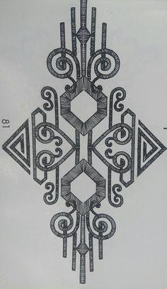 Abstract and geometric motifs Geometric Embroidery, Embroidery Motifs, Beaded Embroidery, Floral Embroidery, Embroidery Designs, Art Deco Pattern, Abstract Pattern, Camera Tattoo Design, Jewelry Store Design