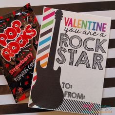 It is a graphic of Delicate Pop Rocks Valentines Printable