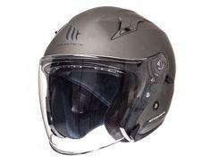 MT AVENUE SV Solid Matt Titanium Helmets, Helmet, Motorbikes, Hard Hats