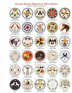 Hex signs are a form of Pennsylvania Dutch folk art grown out of the fraktur and folk art traditions about 1850 when barns first started to be painted in the area. They are talismanic and decorative in nature.