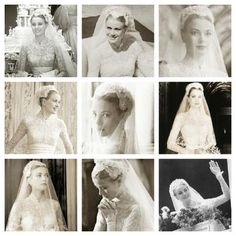 Princess Grace on her wedding day  via Immortal Beauties