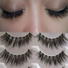 K03Transparent False Eyelashes Messy Cross Thick Natural Fake Eye Lashes Professional Makeup Tips Bigeye Long False Eye Lashes