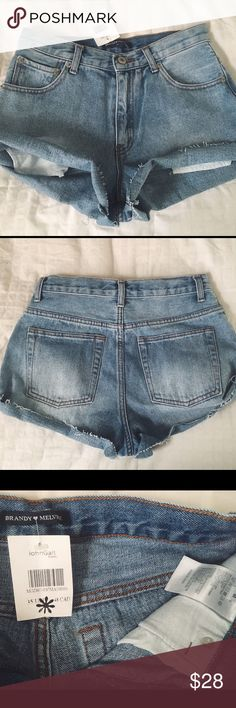 Brandy Melville jean shorts Nwts, no flaws. I'd model them but they are too big for me. •no trades or holds✖️ •I'm only on poshmark✔️ •use offer button please💙 •same/next day shipping📬 Brandy Melville Shorts Jean Shorts