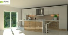 Design 4 (View 2) High End Kitchens, Kitchen Interior, Corner Desk, Interiors, Modern, Table, Furniture, Design, Home Decor