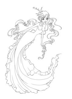 mermaid lineart by antigonia